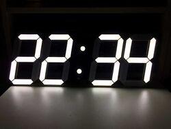 Big 3D Digital LED Wall Clock, Modern Design Timer, Alarm Clock, Remote Control