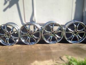 """17"""" Chrome Mags Low Profile Good Condition + 2 Tyres Muswellbrook Area Preview"""