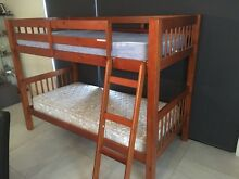 Timber bunk bed and mattress Young Young Area Preview