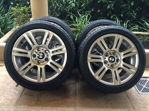 "17"" GENUINE BMW 3-SERIES *M-SPORT* E46/E90 WHEELS & 95% RFT BRIDG Kew Boroondara Area Preview"