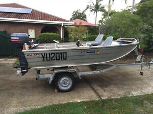 3.7m Seajay nomad 2007 electric start 30hp yamaha 2010 Birkdale Redland Area Preview
