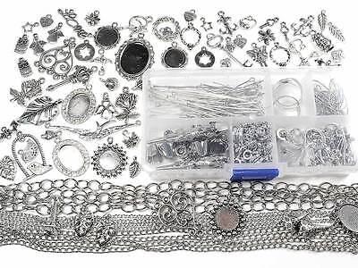Anfängerset Silberschmuck basteln mit über 400 Teilen, DIY Schmuck, Bastelset