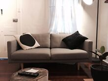 FREEDOM FURNITURE Studio 2.5 Seat Sofa in Arena Cement Woolloomooloo Inner Sydney Preview