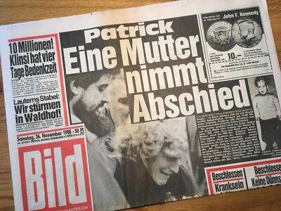Bildzeitung BILD 26.11.1988 * Das besondere Geschenk zum 30. 31. 32. Geburtstag