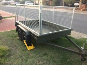 SPECIAL $30/day Trailer for hire: 8x5 caged tandem axle Quinns Rocks Wanneroo Area Preview