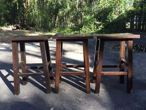 Free - 3 x wooden bar stools Medowie Port Stephens Area Preview