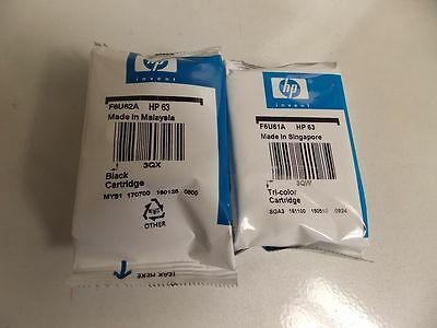 HP 63 Combo 2Pack  Ink Cartridges Black and Color NEW GENUINE
