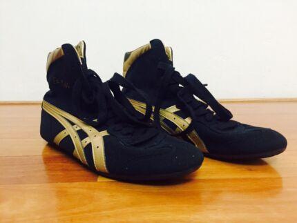 RARE Vintage Dan Gable Asics Wrestling Boxing Boots Shoes