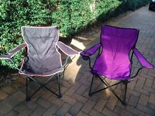 Foldable camping chairs North Epping Hornsby Area Preview