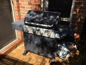 4 burner BBQ with hood and stove Geelong Geelong City Preview
