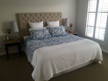 Upholstered bed head, latex mattress & base combination Lalor Whittlesea Area Preview