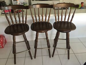 Wooden Bar stools Meridan Plains Caloundra Area Preview