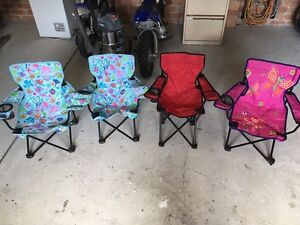 Kids camp chairs x 4. Free Shellharbour Shellharbour Area Preview