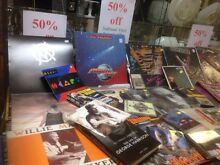 50% off all vinyl records, CDs, DVDs, books, cassettes & comics Greenslopes Brisbane South West Preview