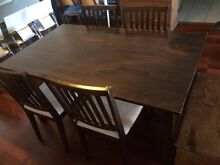 Dining table with 4 matching chairs Campsie Canterbury Area Preview