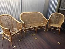Retro VINTAGE CANE 3 piece lounge outdoor setting Eastwood Burnside Area Preview