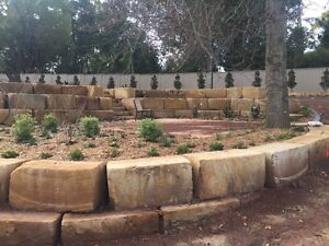 Sandstone retaining walls Middle Ridge Toowoomba City Preview