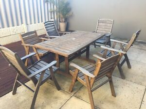 Jarrah table and chairs Scarborough Stirling Area Preview