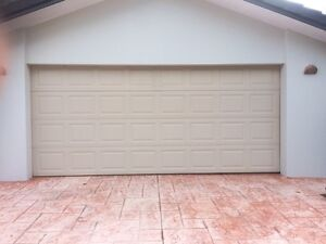 Garage door with tracks, rollers, motor and remote controls Helensvale Gold Coast North Preview