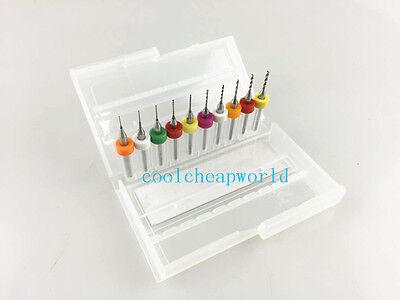10pcs 0.3-1.2mm Pcb Mini Drill Bit For Print Circuit Board Cnc 0.3mm To 1.2mm