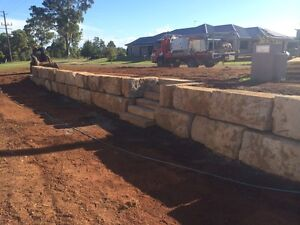 Sandstone retaining wall builders New Beith Logan Area Preview