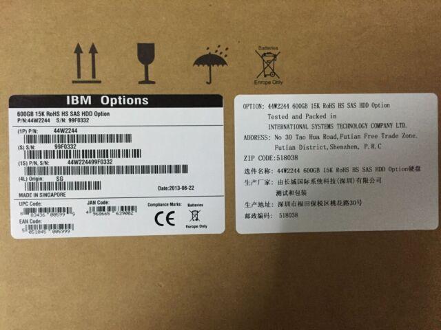 """IBM 600GB 6G 15K 3.5"""" 44W2244 44W2245 44W2246 HARD DRIVE New"""