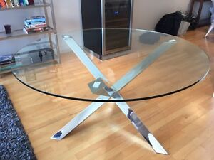 Clear Glass Dining Table St Kilda Port Phillip Preview