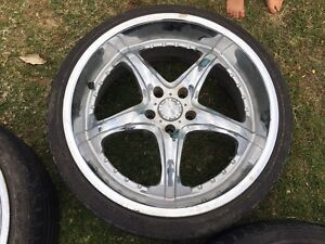 20 inch chrome wheels and tyres suit ford Beresfield Newcastle Area Preview