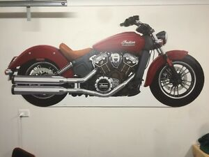 Indian scout poster/plastic cardboard Frankston Frankston Area Preview