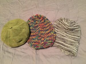 Suede hat and 2 beanies Toorak Stonnington Area Preview