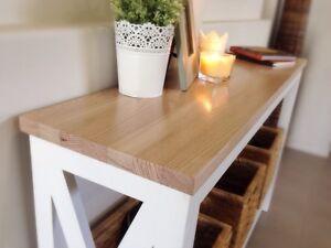 Stunning Australian Ash Hardwood Hamptons Style Hall Tables Mountain Creek Maroochydore Area Preview