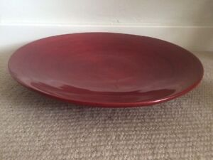 Red Lacquered Platter Denistone West Ryde Area Preview