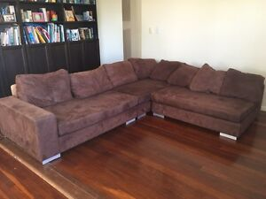 Lounge suite 4 seater with chaise converts to sofa bed Margate Redcliffe Area Preview