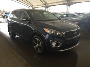 2016 Kia Sorento 3.3L EX AWD, HTD SEATS, LEATHER, REAR VISION...