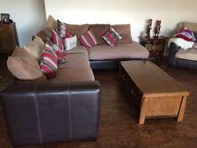 Harvey Norman Brown Sofa & matching reclining arm chair Mandurah Mandurah Area Preview