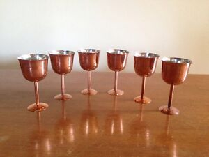 Set of 6 vintage Berczi copper goblets circa 1963 Summer Hill Ashfield Area Preview