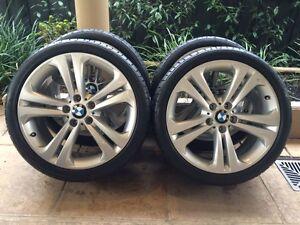 "19"" GENUINE BMW 3-SERIES F30 F31 F32 WHEELS & 85% BRIDGESTONE RFT Kew Boroondara Area Preview"
