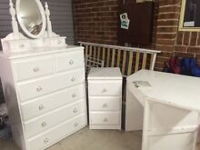 Old White Bedroom Furniture SOLD pending pick-up Wallsend Newcastle Area Preview