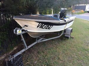 Tinny 14 with 40mph motor and trailer Robina Gold Coast South Preview