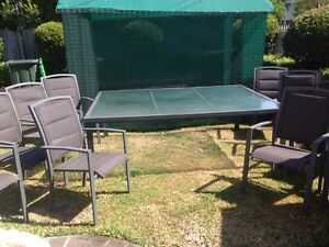 Large 10 seater outdoor table and chair setting Tingalpa Brisbane South East Preview