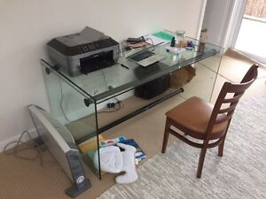 Large glass executive desk Elanora Heights Pittwater Area Preview