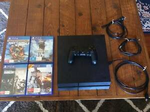 Sony PlayStation 4 + 4 Games Hamilton Newcastle Area Preview
