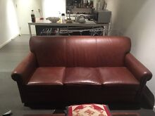 Australian made leather lounge suite Richmond Yarra Area Preview