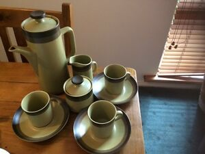 Arrow stone coffee tea set- retro Wynn Vale Tea Tree Gully Area Preview