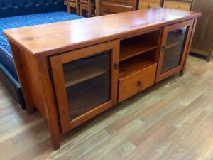 Large wooden TV table/entertainment unit, near new Sandy Bay Hobart City Preview