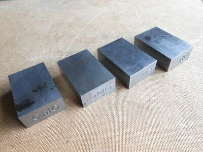 Setlot Of 4 Steel 1-2-3 Blocksmilling Solid With 2 Holes On One End Gmc