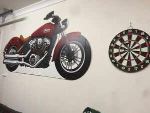 Indian scout motorcycle sign Frankston Frankston Area Preview