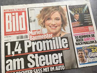 Bildzeitung vom 03.05.2017 * Geschenk zur Geburt * Muriel Baumeister