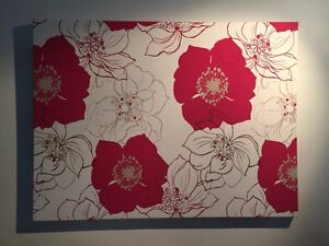 Fabric wall art flowers red 100x75cm Manning South Perth Area Preview
