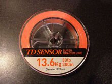 Daiwa TD Sensor Braid 30lb 300m Modbury North Tea Tree Gully Area Preview